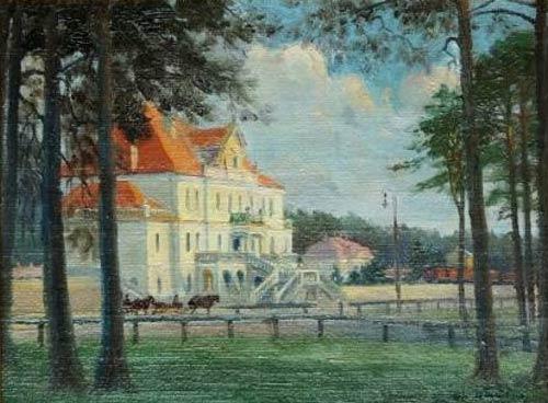 """""""Dworzec w Szydłowcu"""" obraz Władysława Szulca z 1926 roku nowym nabytkiem MLIM w Szydłowcu"""