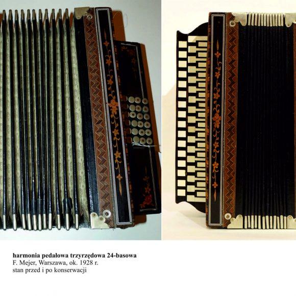 Konserwacja instrumentów ze zbiorów muzealnych zrealizowana dzięki dotacji udzielonej ze środków Powiatu Szydłowieckiego