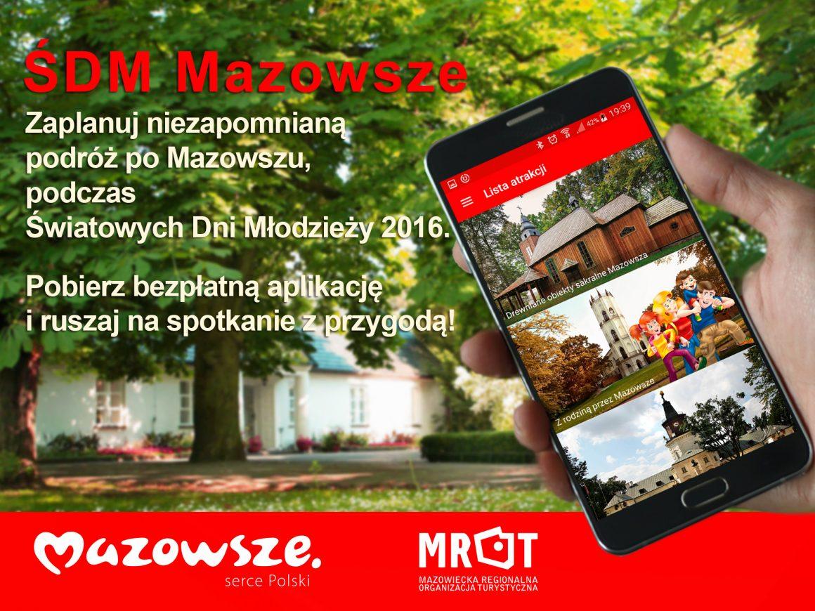 """Aplikacja mobilna """"ŚDM Mazowsze"""""""