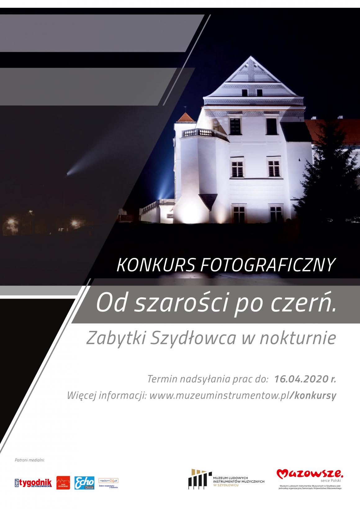 """Konkurs fotograficzny """"Od szarości po czerń. Zabytki Szydłowca w nokturnie"""" – odwołany"""