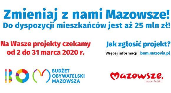 Zgłoś projekt do Budżetu Obywatelskiego Mazowsza