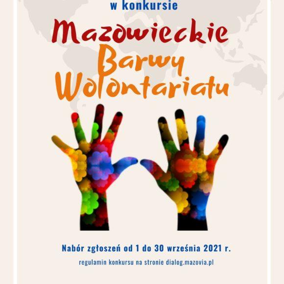 """XI edycja konkursu """"Mazowieckie Barwy Wolontariatu"""""""